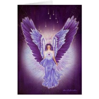 Tarjeta Amethyst violeta gloriosa del ángel