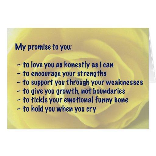 Tarjeta - amor - mi promesa