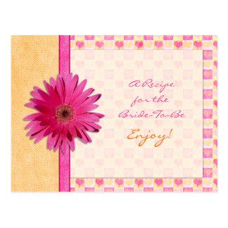 Tarjeta anaranjada de la receta de la margarita tarjeta postal