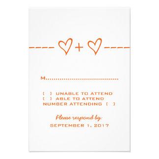Tarjeta anaranjada de la respuesta de la ecuación anuncio personalizado