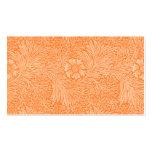 Tarjeta anaranjada del asiento de la recepción de  tarjetas personales