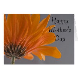 Tarjeta anaranjada del día de madres de la tarjeta de felicitación