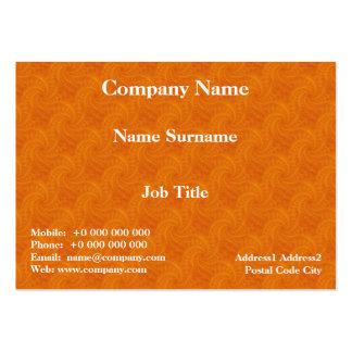 Tarjeta anaranjada del espiral de la estela de vap plantillas de tarjeta de negocio