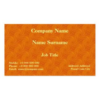 Tarjeta anaranjada del espiral de la estela de vap tarjeta de visita
