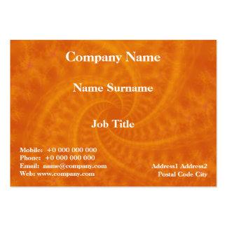 Tarjeta anaranjada del espiral de la estela de vap plantillas de tarjetas personales