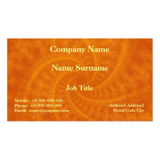 Tarjeta anaranjada del espiral de la estela de vap tarjetas personales