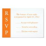 Tarjeta anaranjada media de RSVP Invitación 8,9 X 12,7 Cm