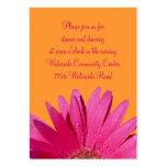 Tarjeta anaranjada y rosada de la recepción de la  tarjetas personales