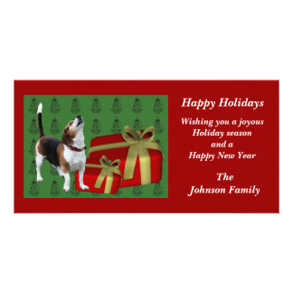 Tarjeta animal del día de fiesta del navidad del b tarjetas fotograficas personalizadas