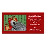 Tarjeta animal del día de fiesta del navidad del l tarjetas personales