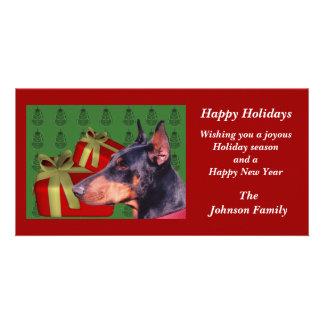 Tarjeta animal del día de fiesta del navidad del P Tarjetas Personales Con Fotos