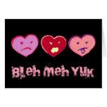 Tarjeta anti de la tarjeta del día de San Valentín