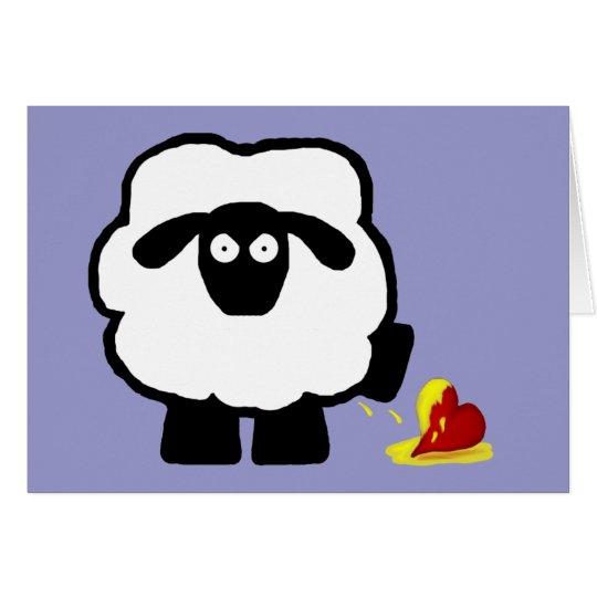 Tarjeta anti de las ovejas del día de San Valentín