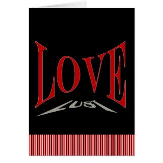 Tarjeta anti del amor o de la lujuria del el día