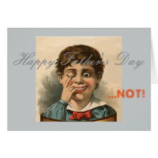 Tarjeta anti del día de padre, mala disfunción de