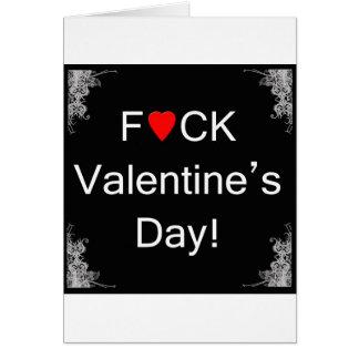 Tarjeta anti del el día de San Valentín