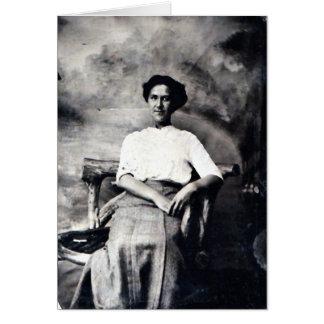 Tarjeta antigua de la foto de la fotografía cualqu