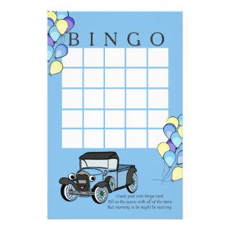 Tarjeta antigua del camión y del bingo de los glob personalized stationery