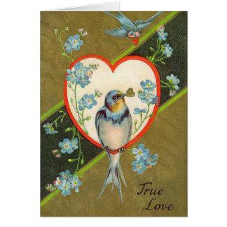 Tarjeta antigua del día de San Valentín