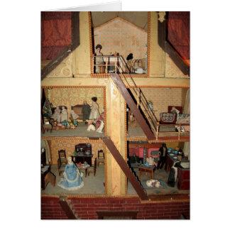 Tarjeta antigua del Dollhouse - espacio en blanco