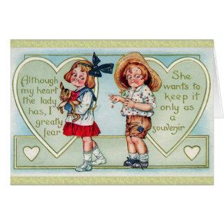 Tarjeta antigua del el día de San Valentín