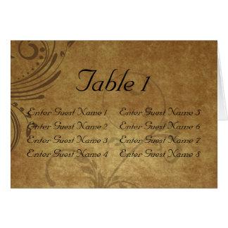 Tarjeta antigua del primero de tabla del remolino
