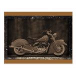 Tarjeta Antiqued de la foto de la motocicleta Postal