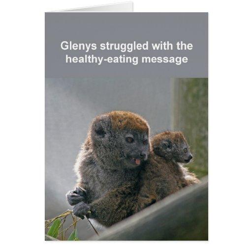 Tarjeta apacible del lemur