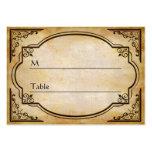 Tarjeta apenada rústica elegante del lugar de la t plantillas de tarjetas personales