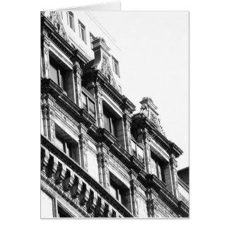 Tarjeta arquitectónica de la foto de NYC