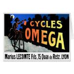 Tarjeta: Arte de la bicicleta del vintage - ciclos
