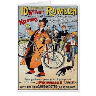 Tarjeta: Arte de publicidad de la bicicleta del Tarjeta De Felicitación