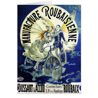 Tarjeta: Arte Nouveau: Ciclos del vintage: Tarjeta De Felicitación
