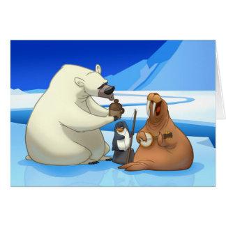 Tarjeta ártica de la banda de jarro