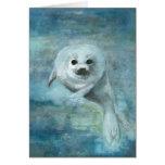 Tarjeta ártica de la foca de Groenlandia del nadad