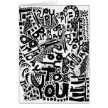 Tarjeta artística del feliz cumpleaños