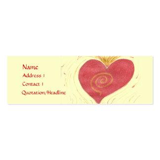 Tarjeta artística tarjetas de visita mini