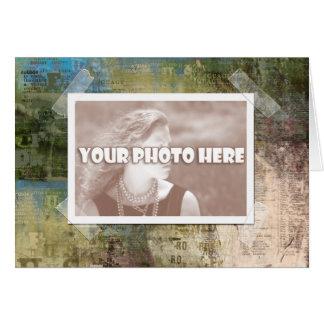 Tarjeta artsy del marco de la foto