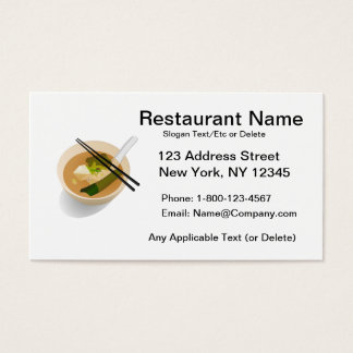 Tarjeta asiática de encargo del restaurante tarjetas de visita