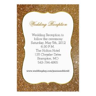 Tarjeta atractiva del recinto del boda de la tarjeta de visita