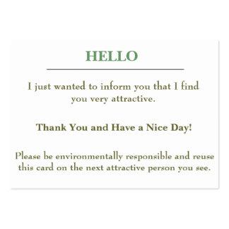 Tarjeta atractiva tarjetas de visita grandes