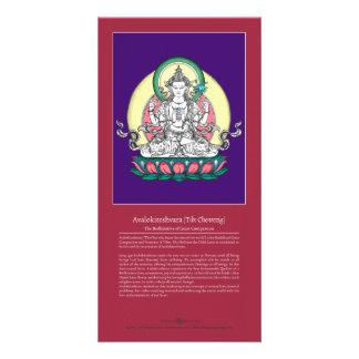 TARJETA Avalokiteshvara/Chenrezig con la explicaci Tarjetas Personales Con Fotos