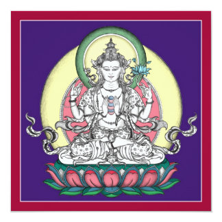 TARJETA Avalokiteshvara/Chenrezig - cuadrado+sobre Anuncio
