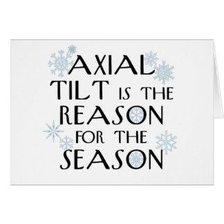 Tarjeta axial del solsticio del Inclinación-invier
