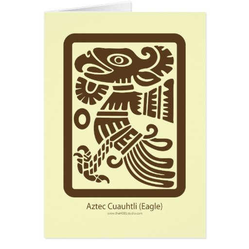 Tarjeta azteca de Cuauhtli - de Eagle (Brown)