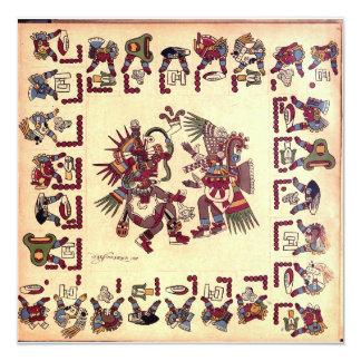 """Tarjeta azteca del arte invitación 5.25"""" x 5.25"""""""