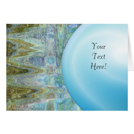 Tarjeta azul abstracta de la perla tarjeta de felicitación