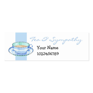 Tarjeta azul blanca de la pequeña empresa de la ta tarjetas de negocios