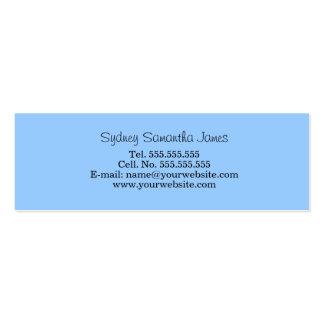 Tarjeta azul clara del perfil tarjeta personal