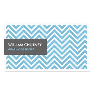 Tarjeta azul clara elegante simple del perfil del tarjetas de visita